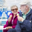 Senior Couple Enjoying Ice Cream On Deck Of Cruise Ship — Stock Photo #71537189