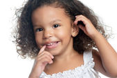 Little girl with an afro hairstyle — Stock Photo