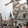 Постер, плакат: People near the Harry Potter ride at Universal Studios Florida