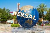 The famous globe at the Universal theme parks in Florida — Stock Photo