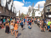 Visitors in the Harry Potter area at Universal Studios Islands o — Stock Photo