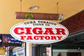 Typical cigar factory at 8th Street in Miami — Stock Photo