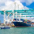 Ship unloading containers at the Port of Miami — Stock Photo #53835171
