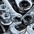 Tools wrenches, ratchets, nuts, bolts and screws — Stock Photo #54254927