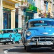 Old classic cars used a taxis in Havana — Stockfoto #57554529