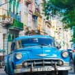 Old classic cars used a taxis in Havana — Стоковое фото #57554543