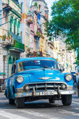Old classic cars used a taxis in Havana — Stock Photo