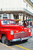 Vintage car parked — Stok fotoğraf