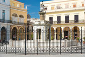 Colonial architecture at Plaza Vieja — Stock Photo