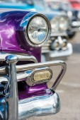 Chevrolet and other vintage cars — Stock Photo