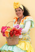 Woman with a traditional dress — Stock Photo