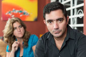 伤心的丈夫和妻子 — 图库照片