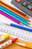 School and art supplies — Stock Photo