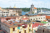Havana with views over the bay — Stock Photo