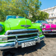 Colorful vintage american cars — Stock Photo #69768311
