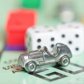 Car token and dices — Stock Photo