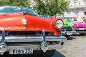 Colorful vintage american car s — Stock fotografie
