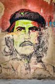Che Guevara portrait in Old Havana — Stock Photo