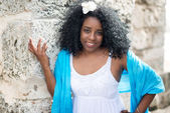 Beautiful young black cuban woman — Stock Photo
