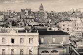 Vintage monochromatic image of Old Havana — Stock Photo