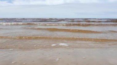 Seascape, Baltic Sea, Spring — Stock Video