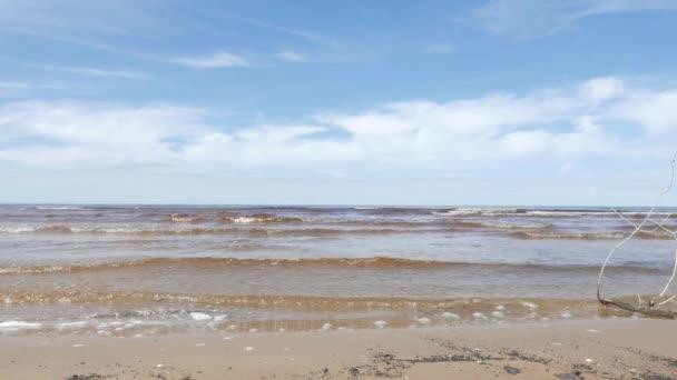 Marino, mar Báltico, primavera — Vídeo de stock