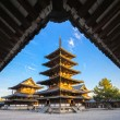 Horyu-ji Temple in Nara, Japan — Stock Photo #64755725