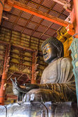 The Great Buddha statue in Todai-ji temple — Stock Photo