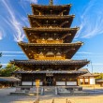 Horyu-ji Temple in Nara, Japan — Stock Photo #74631883