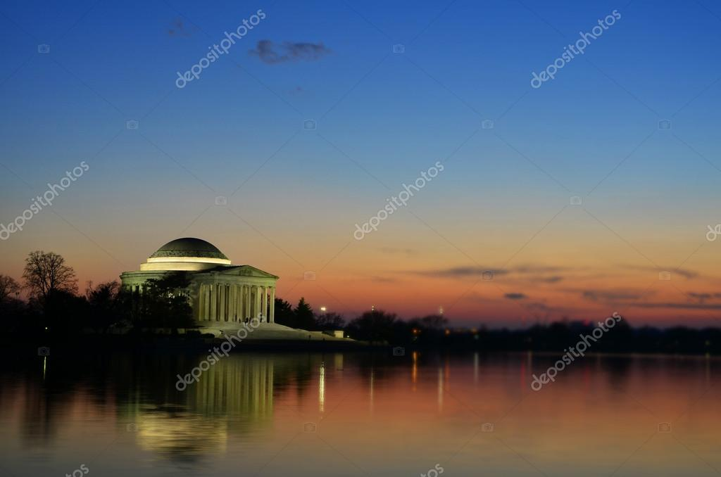 Jefferson memorial edificio puesta de sol con foco spot for Edificio puesta del sol