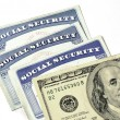 Social Security Cards and Cash Money — Stock Photo #52490899