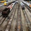Railroda Tracks and Cars — Stock Photo