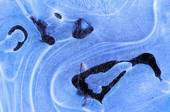 Frozen Blue Ice Crystals — Stock Photo