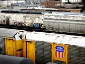 Union Pacific Railroad Cars — Stock Photo