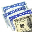 Social Security Cards and Cash Money — Stock Photo #54052315