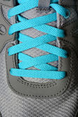 Blue Shoe Laces on Running Shoes — ストック写真