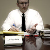Attorney at Desk — Stock Photo