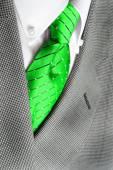 White Shirt Green Tie Suit Jacket — Stock Photo