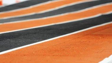 Running Race on Race Track — Stock Video