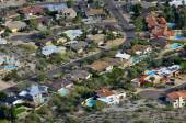 Desert Town with Swimming Pools and Homes — Stock Photo