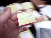 Messy Office with Make a Plan Note — Stock Photo