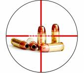 Bullet Military Tactical Crosshairs Right to Bear Arms — Stock Photo
