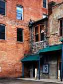 Old Buildings Abandoned Gritty Urban — Stock Photo
