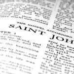 New Testament Scripture Quote Gospel of St. John — Stock Photo #68116851