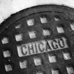 Manhole Cover on Chicago Street — Stock Photo #72353949