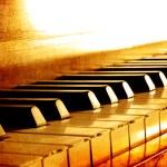 teclas del piano color sepia — Foto de Stock   #81797032
