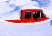 Heavy Winter Snow — Stock Photo