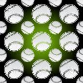 Seamless baseball balls — Stock Vector