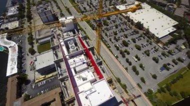 Aerial Beachwalk Hallandale — Stock Video