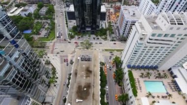 Aerial footage of Brickell Miami — Stock Video